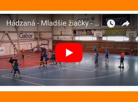 VIDEO: Bánovce n. Bebr - Zlatná, Mladšie a staršie žiačky