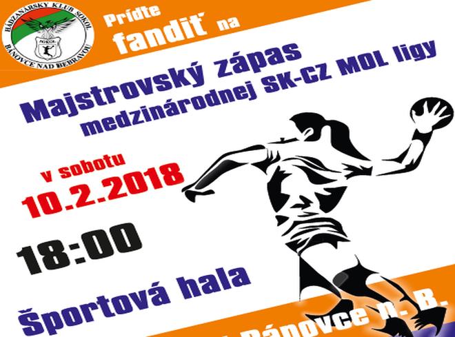 Hádzaná + prenos: HK Sokol Bánovce - ŠŠK, 10.2.2018