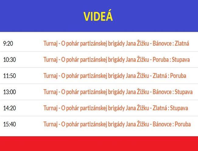 Videá: O pohár partizánskej brigády Jana Žižku